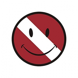 Smiley Face Dive Flag Sticker